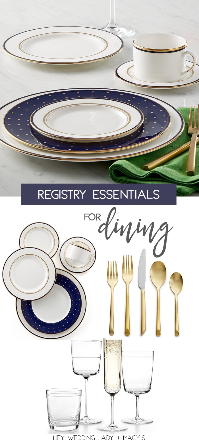 Top Wedding Registry Picks for Dining in Style