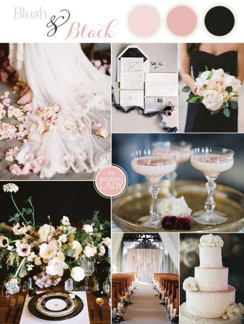 Ethereal Glam Wedding in Blush and Black