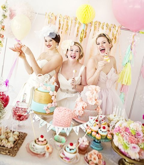 Sweeter than Candy - Charming Retro Valentine's Day Wedding Shoot | Maru Photography | See More: https://heyweddinglady.com/sweeter-than-candy-retro-valentines-day-styled-shoot-in-pastel-hues-from-maru-photography/