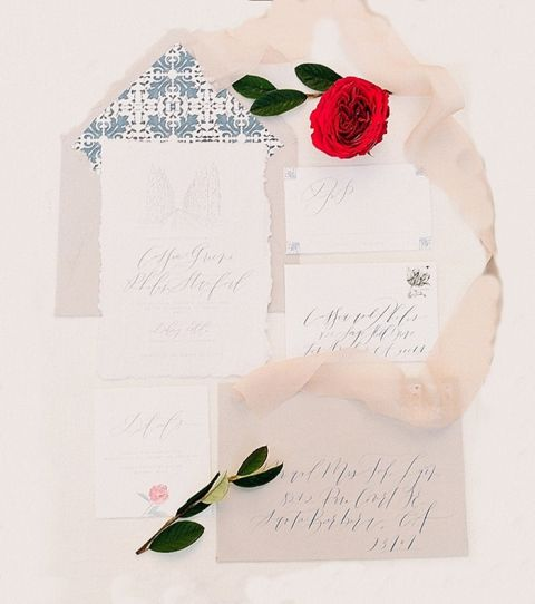 Illustrated Wedding Invitations with Whimsical Fairy Tale Romance