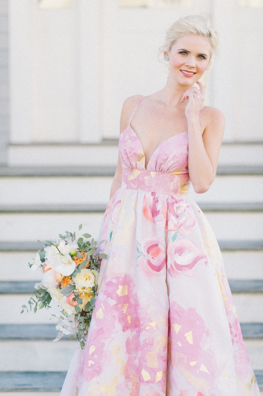 Playful Pink And Gold Preppy Bridal Shoot Hey Wedding Lady