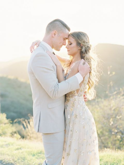 Whimsical Southern California Bohemian Wedding Style in Pink and Gold