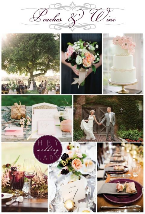 Peaches and Wine Wedding Inspiration Request