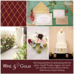 Luxe Wedding Inspiration – A Burgundy and Gold Inspiration Board