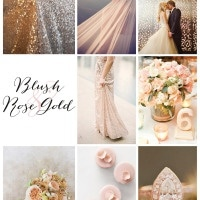 A Blush and Rose Gold Inspiration Board