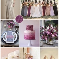 Parisian Plum – Sparkly, Plum Wedding Inspiration with French Glamour