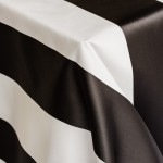 Broadway Black and White Striped Linen from Napa Valley Linens