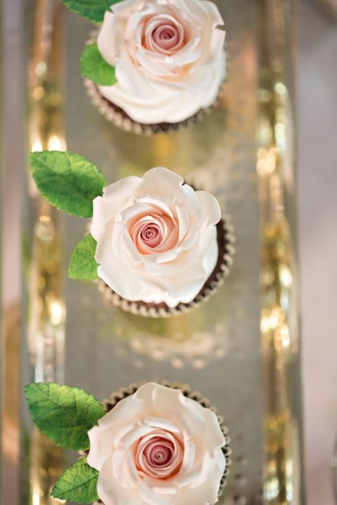 Blush Rose Cupcakes | Angelworx | Norwegian Spring - a Romantic Pastel Wedding Inspired by Spring in the Fjords