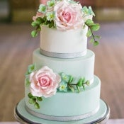 Mint and Blush Wedding Cake | Angelworx | Norwegian Spring - a Romantic Pastel Wedding Inspired by Spring in the Fjords
