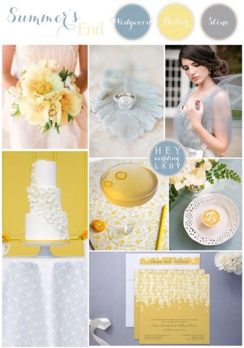 Summer's End - Wedgwood Blue and Butter Yellow Wedding Inspiration