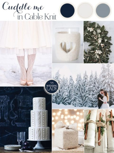 Cozy Cable Knit Winter Wedding Inspiration in Frosty Shades of Blue - https://heyweddinglady.com/cuddle-me-in-cable-knit-cozy-winter-wedding-inspiration-in-white-and-blue/