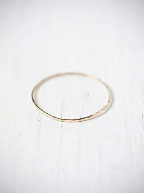 Simple Hammered Gold Ring   True Love Spell with Enchanting Practical Magic Wedding Inspiration