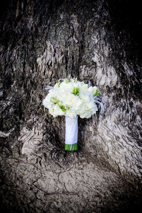 White Bridal Bouquet | Spring Wedding Bridal Style from Just for Love Photography