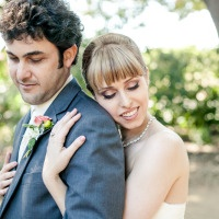 Sweet Music Themed Wedding in Marine Blue and Peach at the Los Altos History Museum