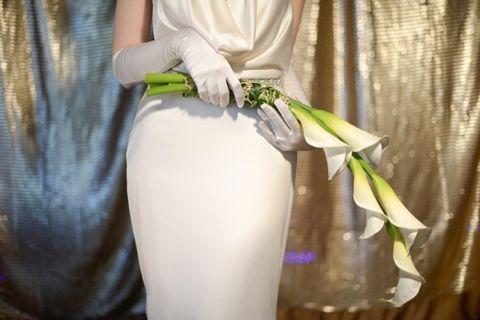Sleek Calla Lily Bouquet | Glamorous Art Deco Styled Wedding