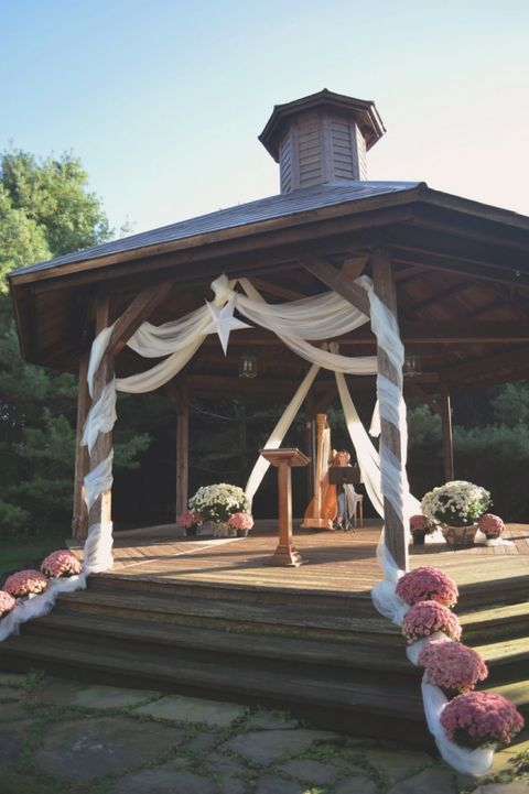 Sweet Rustic Ceremony at the Barn & Gazebo | Charming Lovebird Wedding by Greenwood Photography
