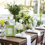 Chic White and Green Table Decor | Chic Nautical Styled Wedding Shoot by Colorful Snapshots Photography
