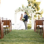 Yacht Club Ceremony with a White Floral Arch | Chic Nautical Styled Wedding Shoot by Colorful Snapshots Photography
