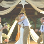 First Kiss | Charming Lovebird Wedding by Greenwood Photography