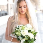 Elegant Bridal Style with a Green and White Bouquet | Chic Nautical Styled Wedding Shoot by Colorful Snapshots Photography