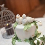 Lovebird Wedding Cake by Clarencedale Cake | Charming Lovebird Wedding by Greenwood Photography