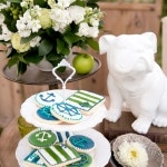 Green and White Nautical Cookies by Sweet Missy's Custom Cookies | Chic Nautical Styled Wedding Shoot by Colorful Snapshots Photography
