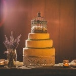 Simple Wedding Cake topped with a Birdcage | Love Out Loud Studios | Gorgeous Rustic Bohemian Wedding in Vancouver