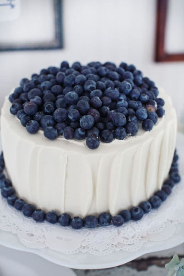 Blue Velvet Cake With Fruit