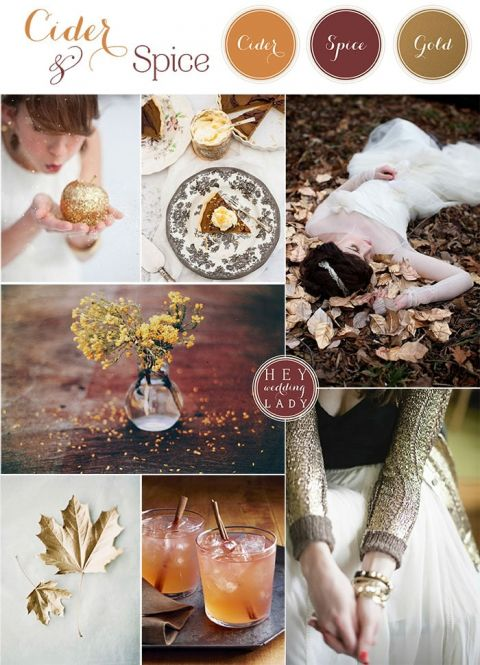 Cider and Spice - Gilded Autumn Woods Wedding Inspiration