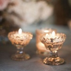 Mercury Glass Votives | Gray Skies - Glowing Winter Wedding Inspiration in Gray and Blush