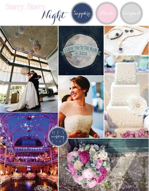 Starry Night - Sapphire and Blush Astronomy Wedding Inspiration