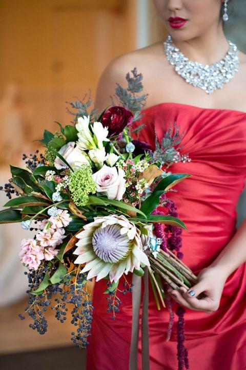 Glamorous Red Holiday Dress | Maru Photography | Let It Snow - Glamorous Holiday Wedding