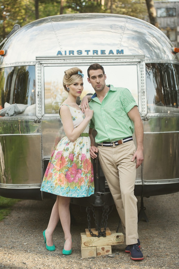 Retro Styled Engagement Shoot | Carla Ten Eyck Photography