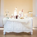 Elegant Red and White Winter Dessert Table| Maru Photography | Let It Snow - Sweet Winter Wedding Shoot