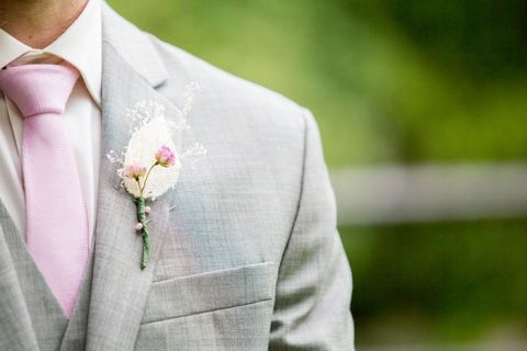 Handmade Boutonniere by the Bride | Roxana Albusel Photography