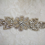 Jeweled Wedding Sash | Donal Doherty Photography