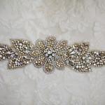 Jeweled Wedding Sash | Donal Doherty Photography