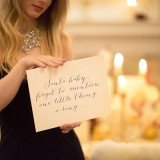 Hand Written Calligraphy Wedding Sign | Maru Photography | Let It Snow - Glamorous Holiday Wedding
