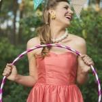Retro Bridesmaid in Coral | Carla Ten Eyck Photography