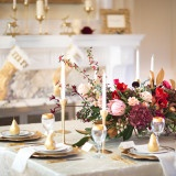 Luxe Red, White, and Gold Winter Wedding Table | Maru PhotographyLet It Snow - Vintage Holiday Wedding