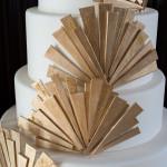 Glamorous Gold Art Deco Wedding Cake by Ana Parzych | Carla Ten Eyck Photography