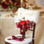 Glamorous Red Bouquet | Maru Photography | Let It Snow - Sweet Winter Wedding Shoot