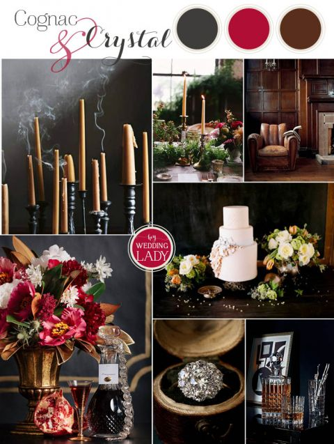 Crystal and Pomegranate Holiday Wedding Decor