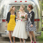 Retro Bridal Party Styled by The White Dress by the Shore | Carla Ten Eyck Photography