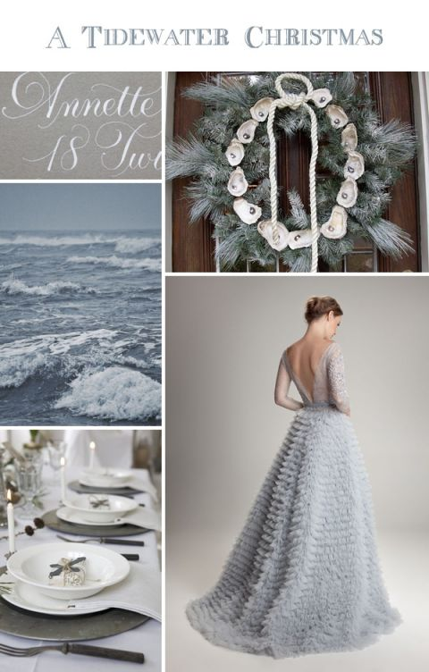 Tidewater Christmas - Romantic Gray and Pewter Wedding Inspiration