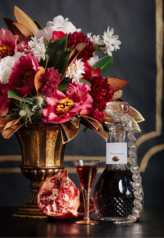 Cognac and crystal opulent holiday inspiration hey
