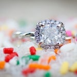 Glamorous Engagement Ring with Colorful Sprinkles | Erin Nicastro Photography