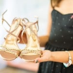 Rose Gold Sandals are the perfect wedding shoes! | Whyman Photography