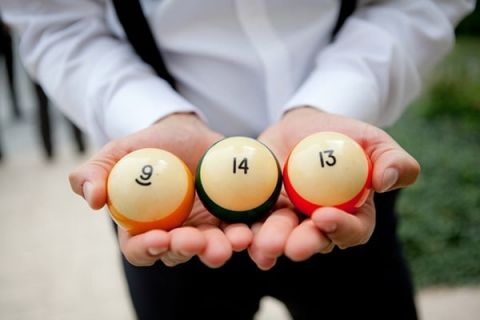 Their Wedding Date in Pool Balls! | Erin Nicastro Photography