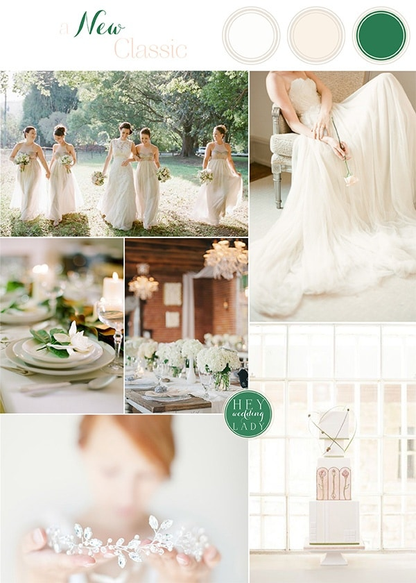 A New Clic Fresh Green Cream And White Wedding Inspiration
